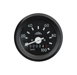 Tachometer ohne Blinkkontrollleuchte ø 60 mm bis 100 km/h für Simson S51, S70, S53