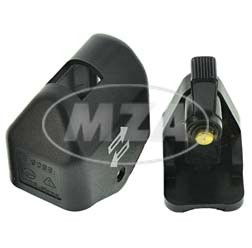 Blinkerschalter mit Ausschnitt, schwarz für Simson & MZ Modelle