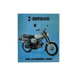Blechschild Simson S51E Enduro Abmessungen ca. 38cm x 34cm