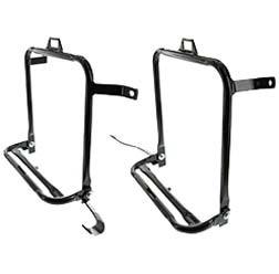 SET Seitengepäckträger rechte und linke Seite Komplett in schwarz für Simson S50, S51, S70