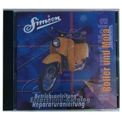 CD Simson Roller und Mofa mit Originald, Reparaturanleitungen, Ersatzteilkataloge, Betriebsanleitung