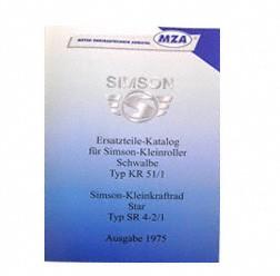 Ersatzteilkatalog, Ersatzteilliste KR51/1, SR4-2, SR4-2/1 - Ausgabe 1975