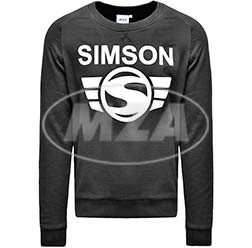 SIMSON Herren Sweatshirt, schwarz, Größe: S, 100% Baumwolle