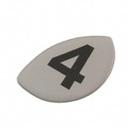 Klebefolie Ziffer -4- für Motor, für Kupplungsdeckel/ Seitendeckel (4-Gang)