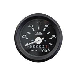 Tachometer mit Blinkkontrollleuchte grün, ø 60 mm bis 100 km/h für Simson S51, S53, S70