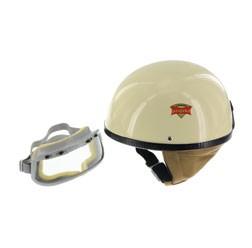 SET Schutzhelm PERFEKT Modell P-500 Farbe elfenbein Größe S mit DDR-Schutzbrille START