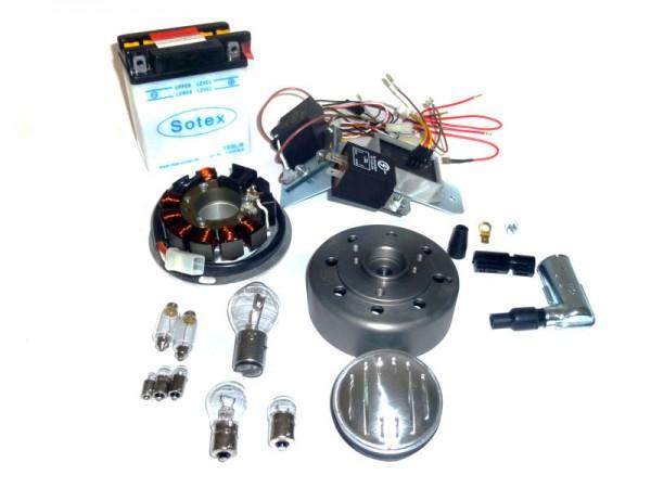 S50 S51 S70 Umrüstsatz VAPE (M-G-V) auf 12V 35/35W mit Batterie, Hupe u. Leuchtmittel