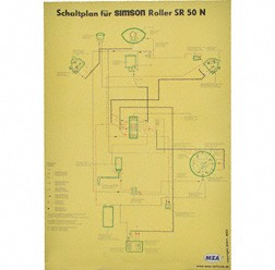 Schaltplan, Farbposter für SR50N
