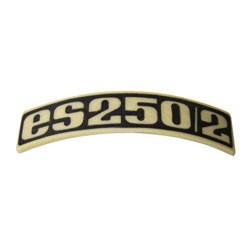 Typenschild - Plakette - Abzeichen für ES250/2 - Plastik