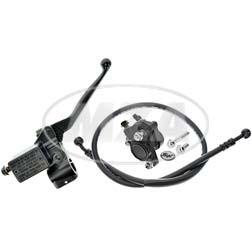 Handbremszylinder für Schnellgasgriff mit Bremssattel, Bremsschlauch 815mm für Simson S50, S51, S70