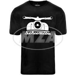 Simson Schwalbe T-Shirt, Farbe: schwarz, Größe: M, Motiv: 55 Jahre Schwalbe 100% Baumwolle