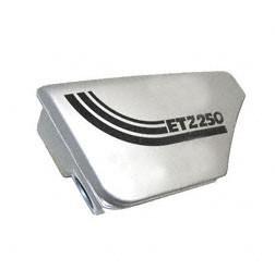 Gehäuse f. Ansauggeräuschdämpfer - silber metalleffekt lackiert - passend für ETZ250