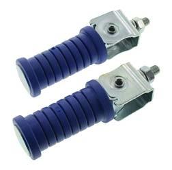 SET Soziusfußraste links u. rechts, verzinkt, blau,ETZ250, ETZ25, ETZ301, ETS250