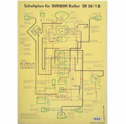 Schaltplan, Farbposter für SR50/1 B