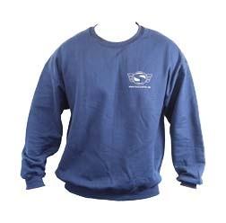 Simson Pullover, Farbe: Marineblau, Größe S mit Reflexdruck Silber