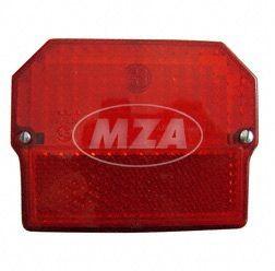 Rücklichtkappe eckig inkl. Schrauben, Dichtscheiben für Simson SR50, SR80, MZ