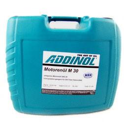 ADDINOL M30 Oldtimer-Motorenöl - SAE 30 - mineralisch, 20 Liter Kanister - Einbereichsöl