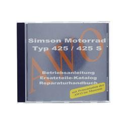 CD - Motorrad - passend für AWO 425/425S - Originaldokumente (Reparaturhandbuch, Ersatzteilkataloge,