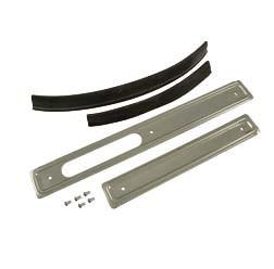 Set Scheuerleisten rechts / links Stahl, glanzverzinkt mit Keder und Nieten für Simson KR51 alle