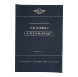 """Reparaturhandbuch Motorrad """"""""SPORT"""""""" Ausgabe 1959 - pass. für AWO425S -mit 89 Bildern"""