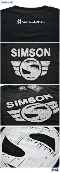 SIMSON T-Shirt, Farbe: schwarz, Größe: XXXL, 100% Baumwolle