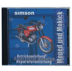 CD mit Reparaturanleitungen, Ersatzteilkataloge, Betriebsanleitung für Simson S51, S53, S83, SR50, S