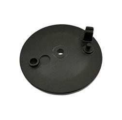 Bremsschild hinten - schwarz pulverbeschichtet - ohne Loch f. Bremskontakt - mit Bolzen - SR50, SR8