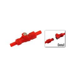 Steckkupplung f. Kraftstoffschlauch - rot - Benzinschlauchkupplung - Anschlüsse ø innen 6,2, ø außen