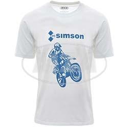 SIMSON Cross T-Shirt, Farbe: weiß, Größe: XL, 100% Baumwolle