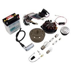 VAPE Umrüstsatz 12V 35/35W mit Batterie, Hupe u. Leuchtmittel für KR51/1, KR51/2